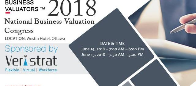 2018 National Business Valuation Congress
